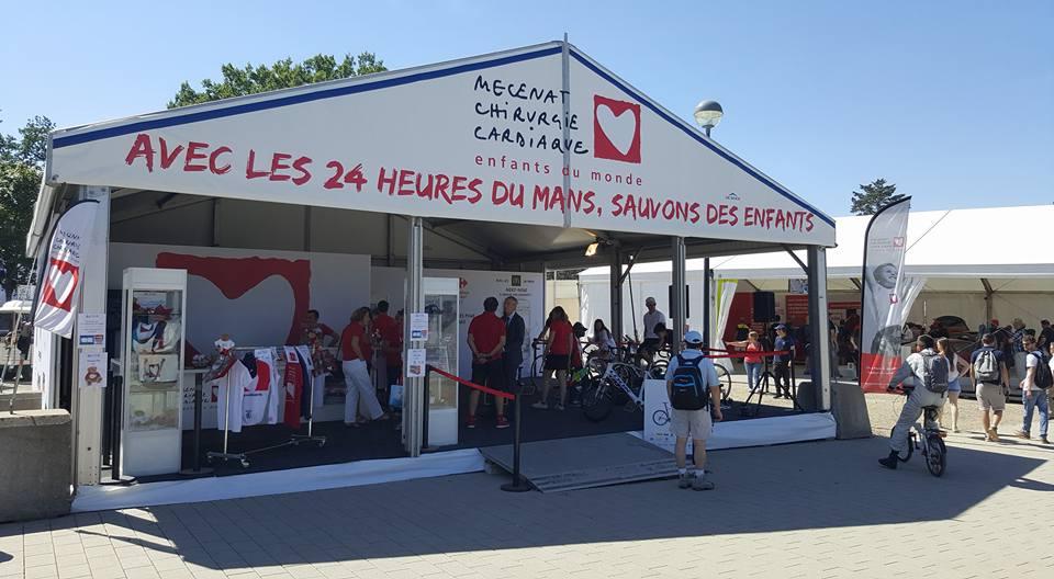 Stand Mécénat Chirurgie Cardiaque - 24 heures du Mans 2017